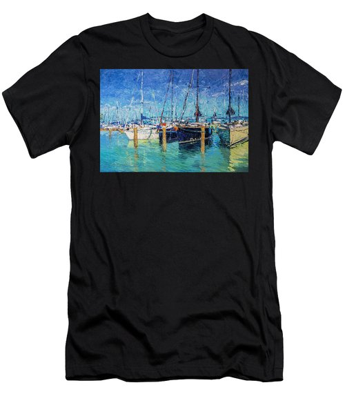 Sailboats At Balatonfured Men's T-Shirt (Athletic Fit)