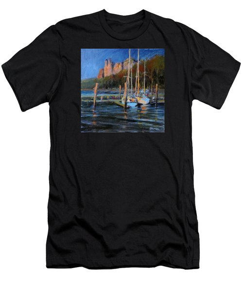 Sailboats At Dusk, Hudson River Men's T-Shirt (Athletic Fit)