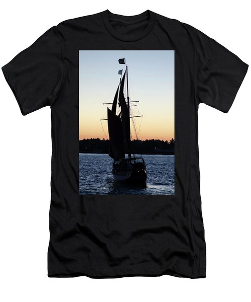 Sailing At Sunset Men's T-Shirt (Athletic Fit)