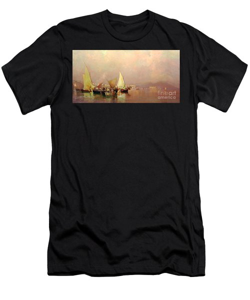 Sailing Fishermen Boats In Naples Men's T-Shirt (Athletic Fit)