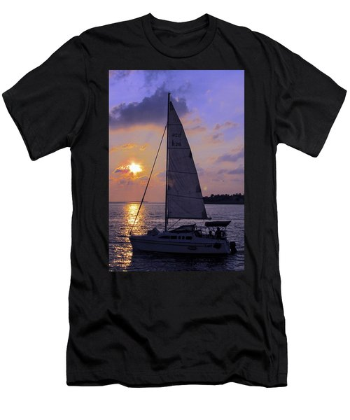Sailing Home Sunset In Key West Men's T-Shirt (Athletic Fit)