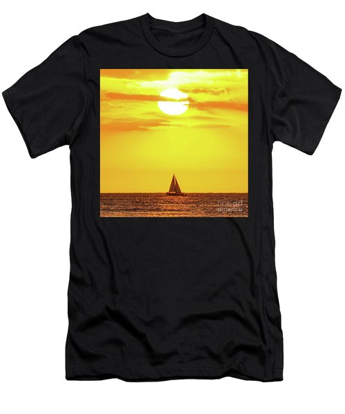 Sailing In Hawaiian Sunshine Men's T-Shirt (Athletic Fit)
