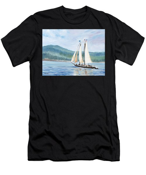 Sailing Into Castine Harbor Men's T-Shirt (Athletic Fit)