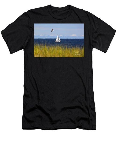 Sailing On Long Beach Island Men's T-Shirt (Athletic Fit)