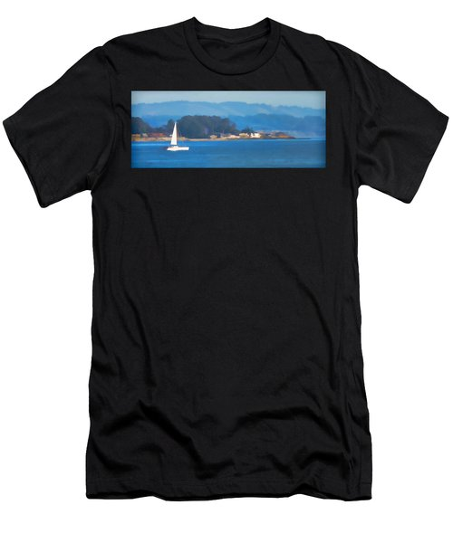 Sailing On The Monterey Bay Men's T-Shirt (Athletic Fit)