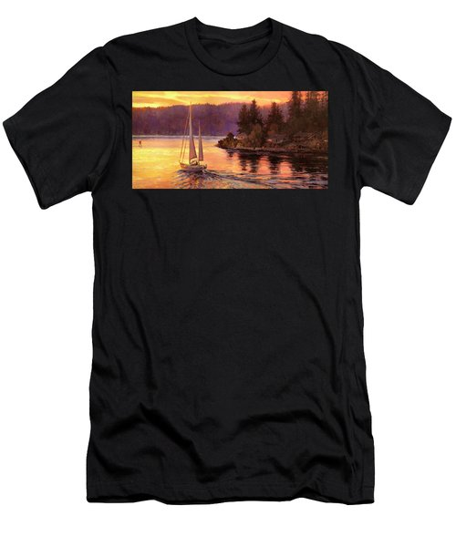 Sailing On The Sound Men's T-Shirt (Athletic Fit)