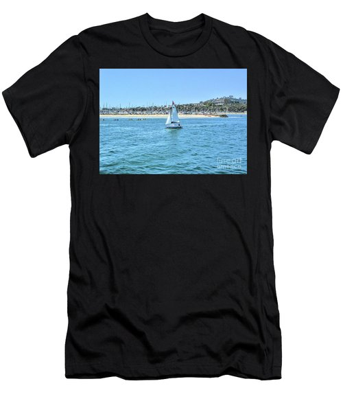 Sailing Out Of The Harbor Men's T-Shirt (Athletic Fit)