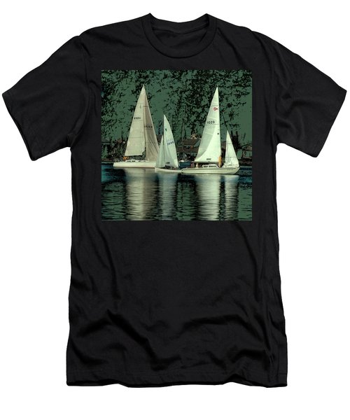 Men's T-Shirt (Slim Fit) featuring the photograph Sailing Reflections by David Patterson