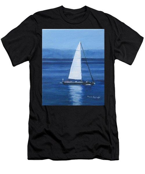 Sailing The Blues Men's T-Shirt (Athletic Fit)