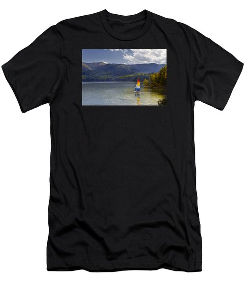 Sailing The Mountain Lakes Men's T-Shirt (Athletic Fit)