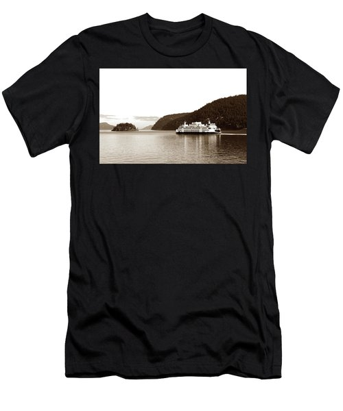 Men's T-Shirt (Athletic Fit) featuring the photograph Sailing The San Juan Islands by Lorraine Devon Wilke