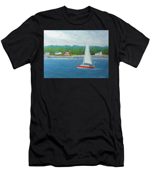 Sailing To New Harbor Men's T-Shirt (Athletic Fit)