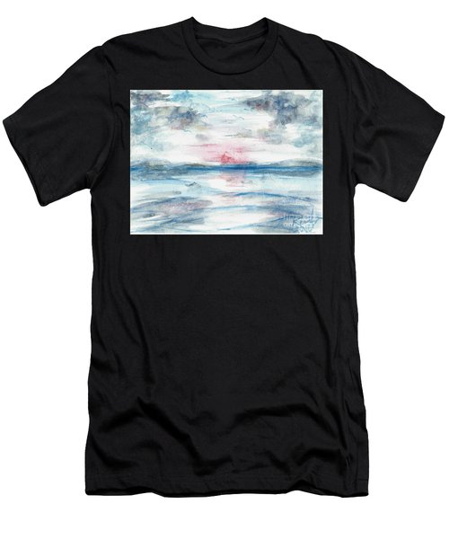 Men's T-Shirt (Athletic Fit) featuring the painting Sailors Warning by Reed Novotny