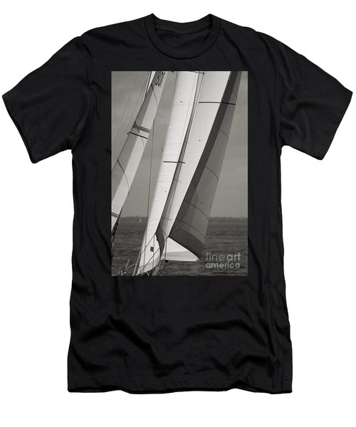 Sails Of A Sailboat Sailing Men's T-Shirt (Athletic Fit)