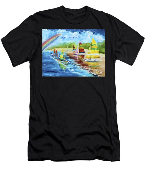 Sails On The Beach Men's T-Shirt (Athletic Fit)