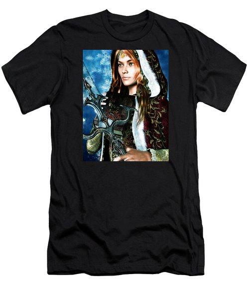 Saint Dymphna 5 Men's T-Shirt (Athletic Fit)
