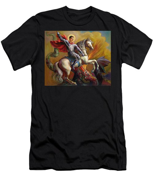 Saint George And The Dragon Men's T-Shirt (Athletic Fit)