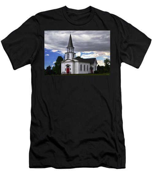 Men's T-Shirt (Slim Fit) featuring the photograph Saint James Episcopal Church 001 by George Bostian