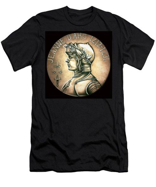 Saint Joan Of Arc Men's T-Shirt (Slim Fit) by Fred Larucci