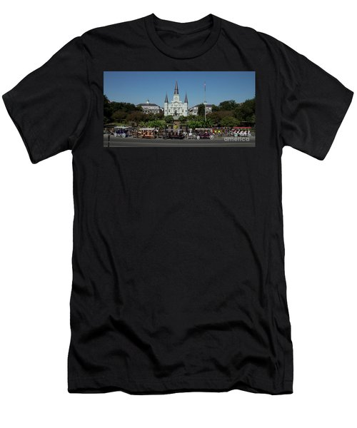 Saint Lewis Cathedral French Quarter New Orleans, La Men's T-Shirt (Athletic Fit)