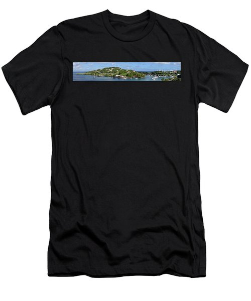 Saint Lucia Panorama Men's T-Shirt (Athletic Fit)