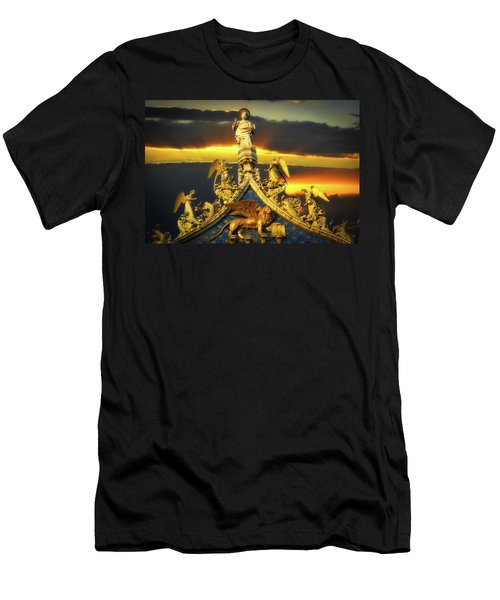Saint Marks Basilica Facade  Men's T-Shirt (Athletic Fit)
