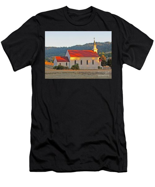 St. Mary's Church At Sunset Men's T-Shirt (Athletic Fit)
