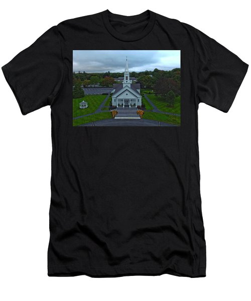 Saint Mary's Church From Above Men's T-Shirt (Athletic Fit)