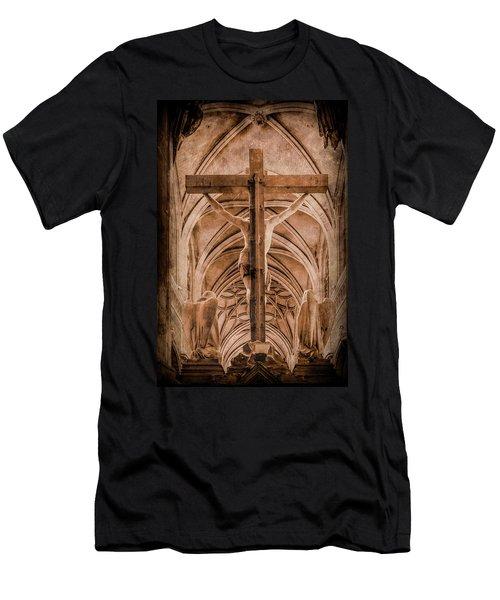 Paris, France - Saint Merri's Cross II Men's T-Shirt (Athletic Fit)