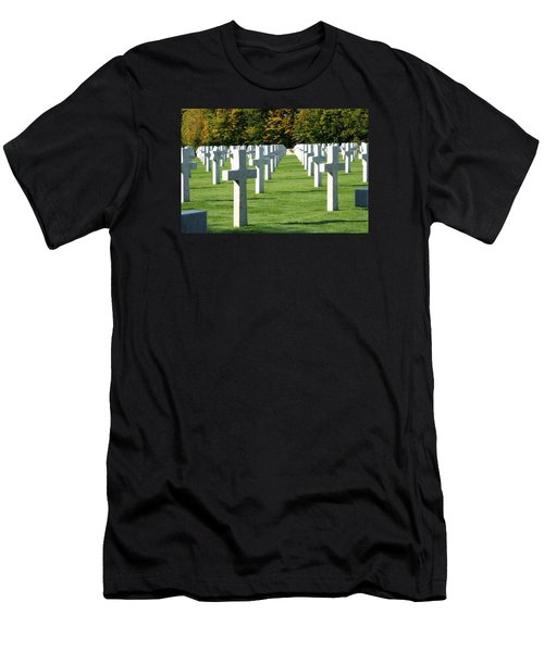 Men's T-Shirt (Slim Fit) featuring the photograph Saint Mihiel American Cemetery by Travel Pics