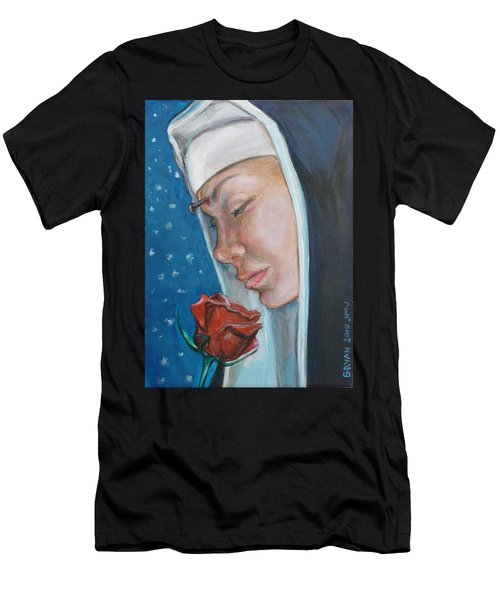 Saint Rita Of Cascia Men's T-Shirt (Athletic Fit)