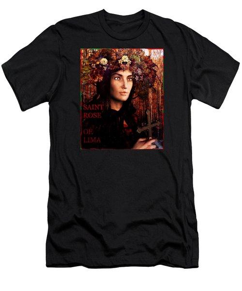 Saint Rose Of Lima Men's T-Shirt (Athletic Fit)