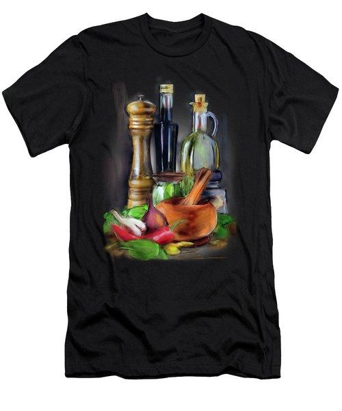Salad Dressing Men's T-Shirt (Athletic Fit)
