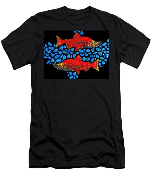 Salmon Men's T-Shirt (Athletic Fit)