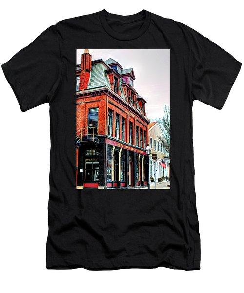 Men's T-Shirt (Slim Fit) featuring the photograph Saloon Bristol Ri by Tom Prendergast