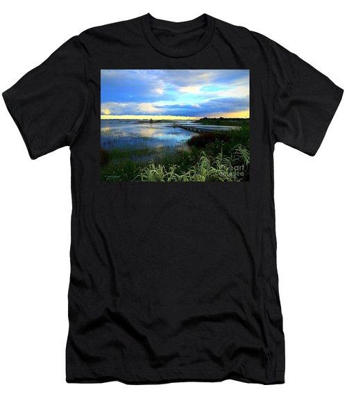 Salt Marsh Men's T-Shirt (Slim Fit) by Shelia Kempf