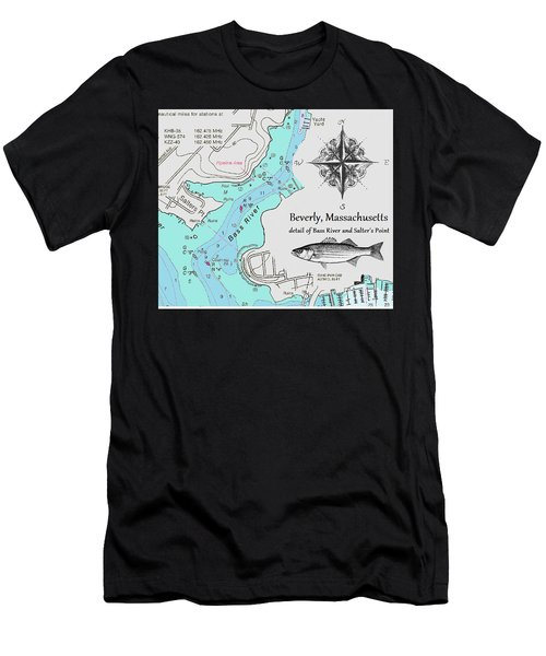 Salter's Point Map Men's T-Shirt (Athletic Fit)
