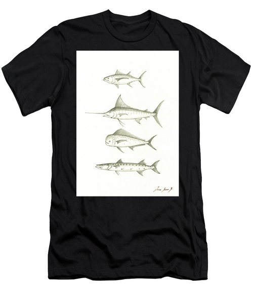 Saltwater Gamefishes Men's T-Shirt (Athletic Fit)