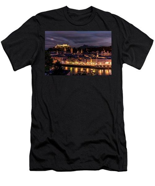 Men's T-Shirt (Slim Fit) featuring the photograph Salzburg Austria by David Morefield