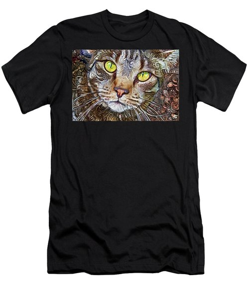 Sam The Tabby Cat Men's T-Shirt (Athletic Fit)
