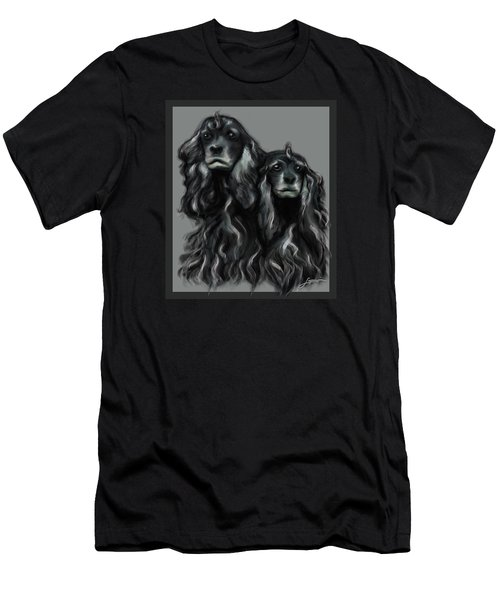 Men's T-Shirt (Athletic Fit) featuring the digital art Sammy And Cloe by Thomas Lupari