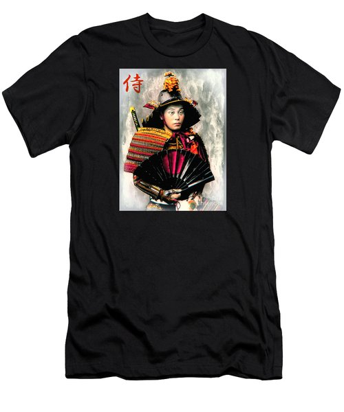 Samurai 1898 With Iron Fan Men's T-Shirt (Athletic Fit)