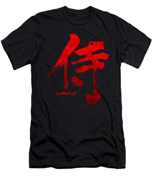 Samurai Kanji Symbol Men's T-Shirt (Slim Fit) by Illustratorial Pulse