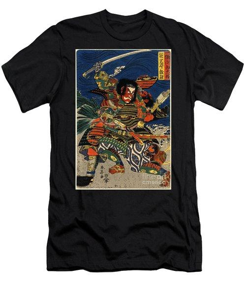 Samurai Warriors Battle 1819 Men's T-Shirt (Slim Fit) by Padre Art
