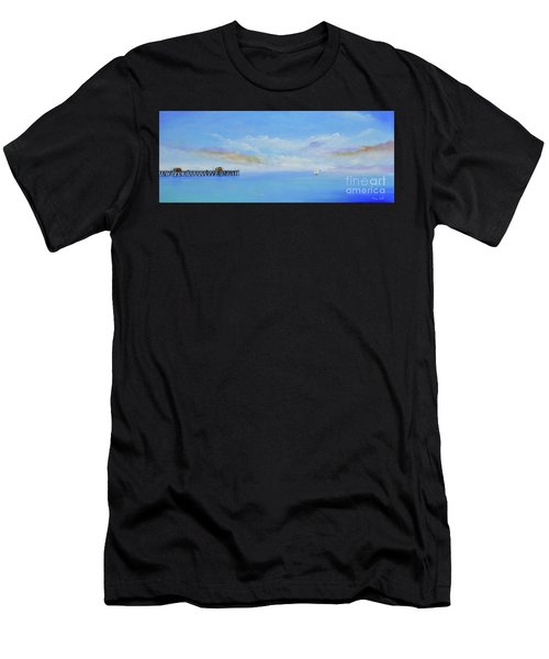 Men's T-Shirt (Athletic Fit) featuring the painting San Clemente Sail by Mary Scott