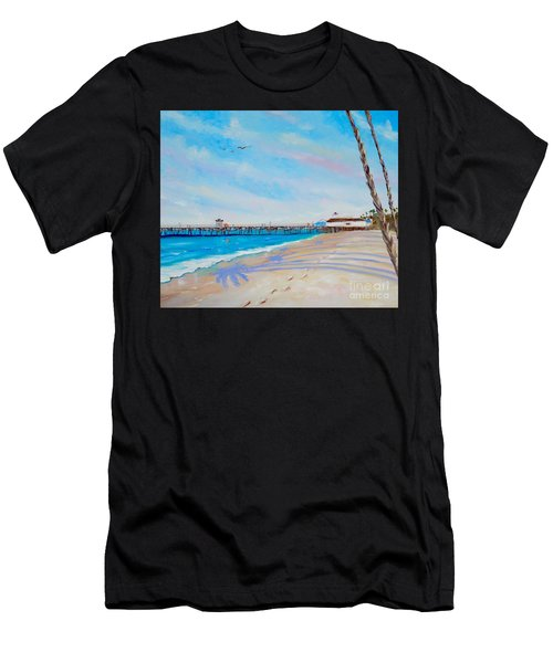 Men's T-Shirt (Athletic Fit) featuring the painting San Clemente Walk by Mary Scott