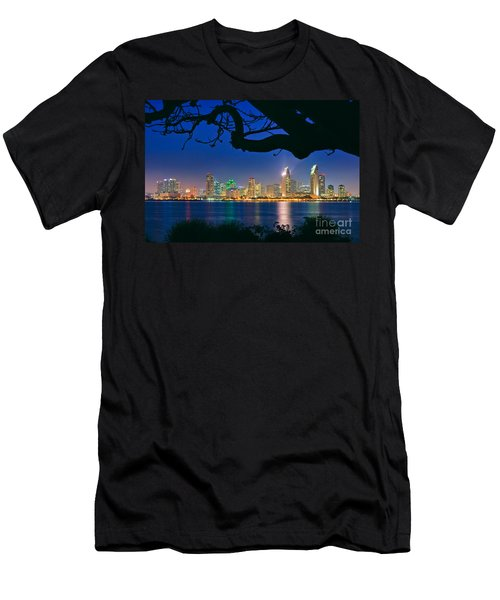 San Diego Skyline From Bay View Park In Coronado Men's T-Shirt (Athletic Fit)