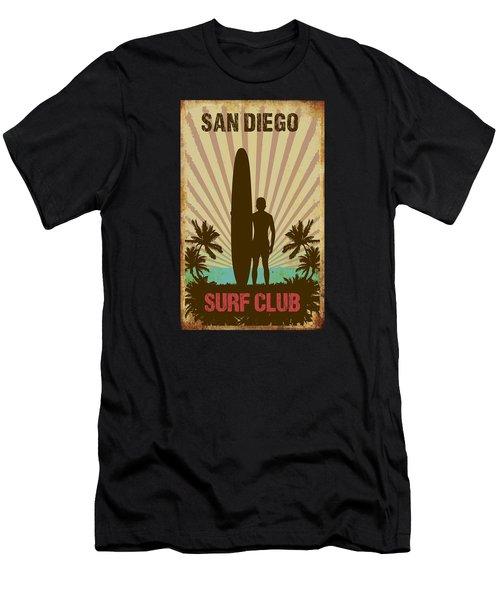 San Diego Surf Club Men's T-Shirt (Athletic Fit)