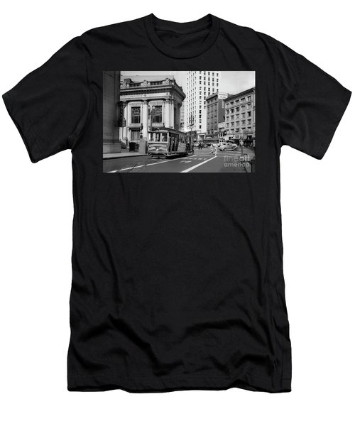 San Francisco Cable Car During Wwii Men's T-Shirt (Athletic Fit)