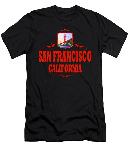 San Francisco California Golden Gate Design Men's T-Shirt (Athletic Fit)